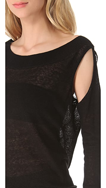 Donna Karan New York Semi Cold Shoulder Tunic