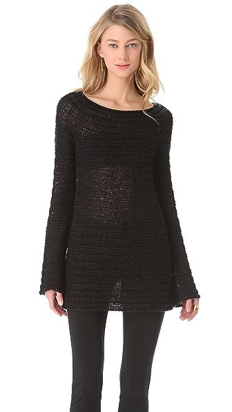 Donna Karan New York Long Sleeve Wide Neck Sweater