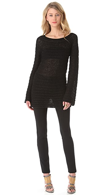 Donna Karan New York Long Sleeve Wide Neck Sweater