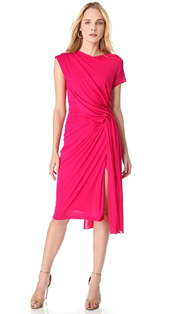 Donna Karan New York Low Back Draped Dress