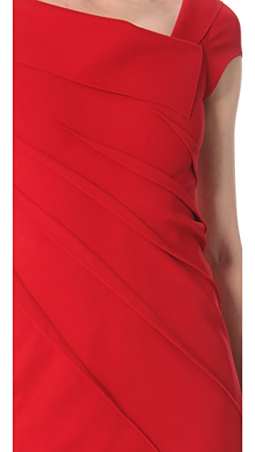 Donna Karan New York Sculpted Cap Sleeve Dress