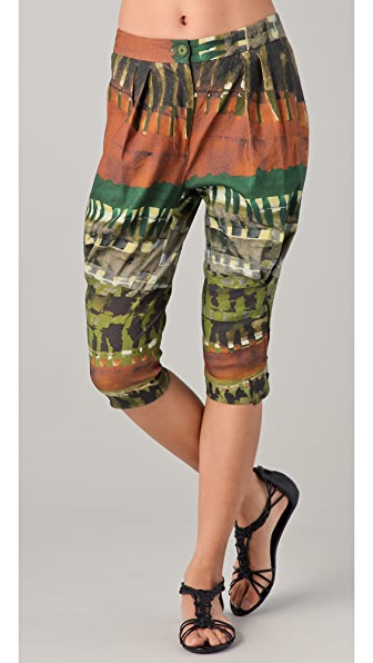 Donna Karan New York Tribal Print Cropped Pants