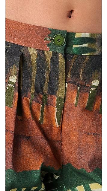 Donna Karan New York Tribal Print Cropped Pants