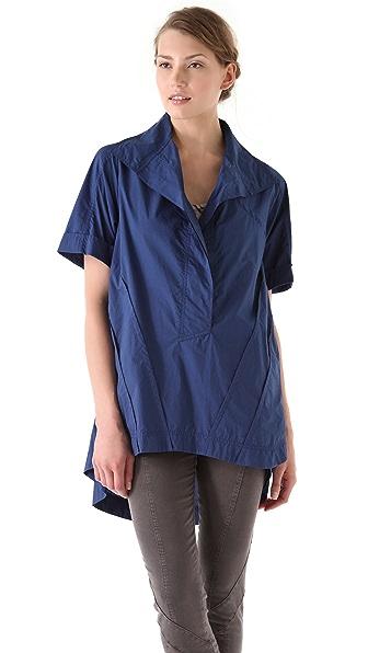 Donna Karan New York Roll Sleeve Oversized Tunic