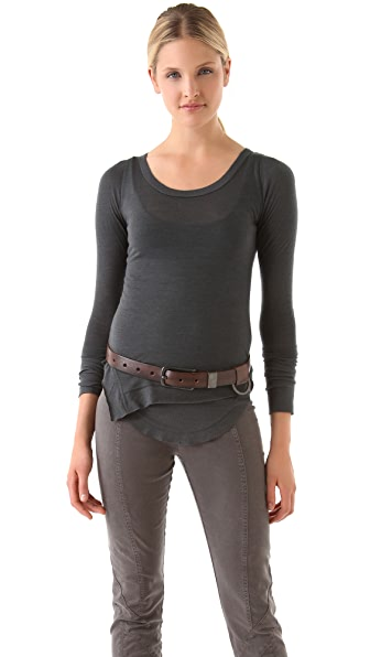 Donna Karan New York Double Layered Long Sleeve Top