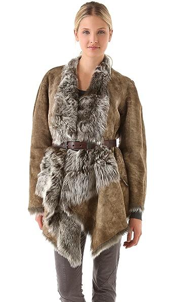 Donna Karan New York Reversible Draped Coat