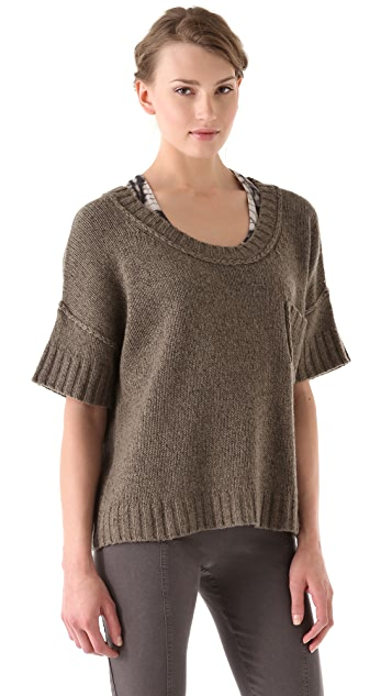 Donna Karan New York Elbow Sleeve T-Shirt