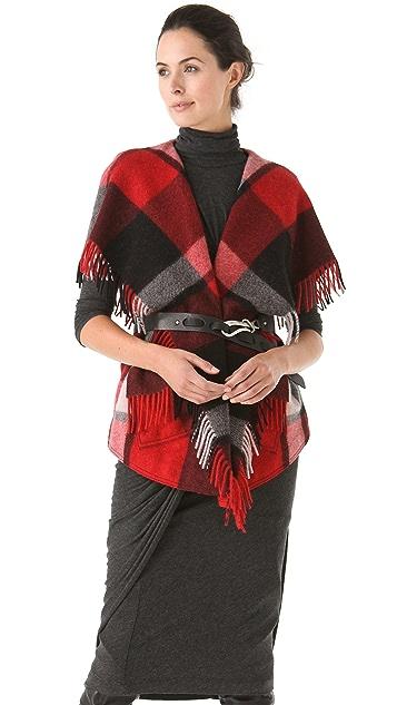 Donna Karan New York Fringe Vest