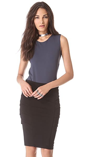 Donna Karan New York Sleeveless Illusion Back Bodysuit