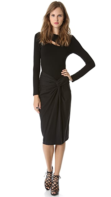 Donna Karan New York Sarong Knot Draped Skirt