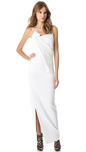 Donna Karan New York Geometric Fold Strapless Gown