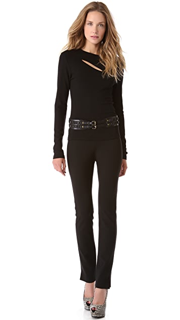 Donna Karan New York Slim Pants with Ankle Vents
