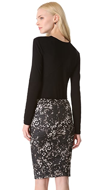 Donna Karan New York Long Sleeve Slash Top
