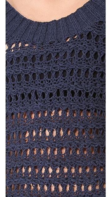 Donna Karan New York Cold Shoulder Sweater