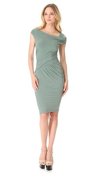 Donna Karan New York Asymmetrical One Shoulder Dress