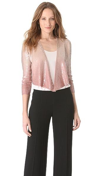 Donna Karan New York Sequined Cashmere Jacket
