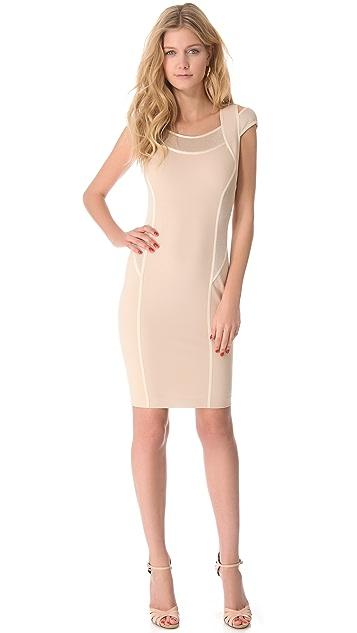Donna Karan New York Cold Shoulder Dress