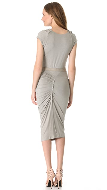 Donna Karan New York Draped Cowl Dress