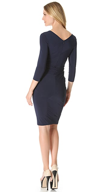 Donna Karan New York Banded Draped Dress