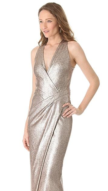 Donna Karan New York Plunge V Evening Dress with Slit