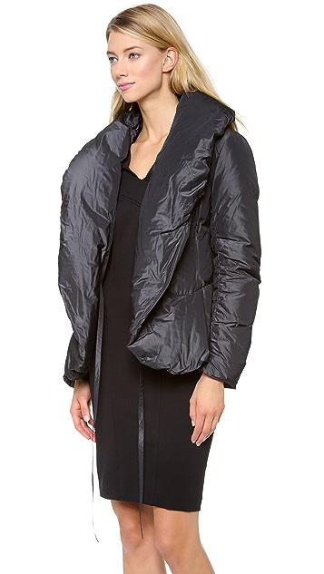 Donna Karan New York Shawl Collar Down Jacket