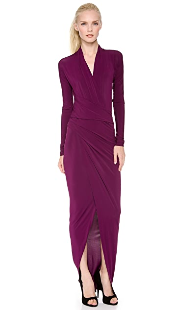 Donna Karan New York Plunge V Evening Gown
