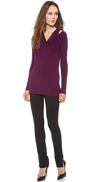 Donna Karan New York Long Sleeve Cold Shoulder Tunic