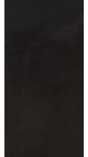 Donna Karan New York Suede Trim Pants