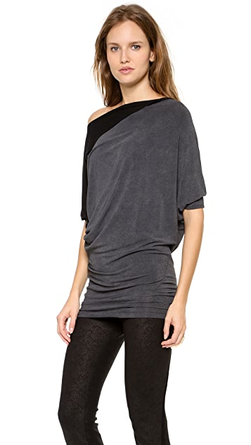 Donna Karan New York Draped Tunic Top