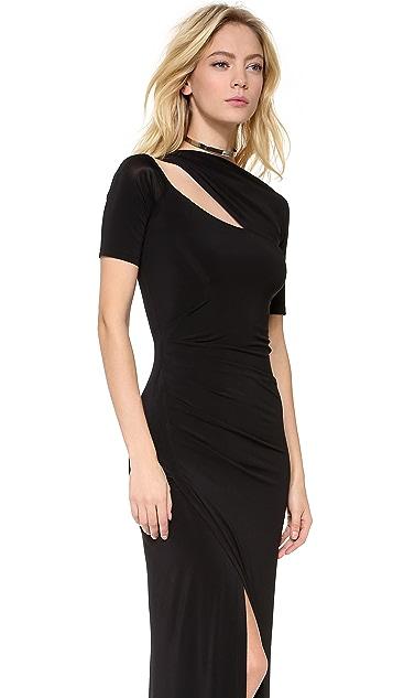 Donna Karan New York One Shoulder Evening Gown