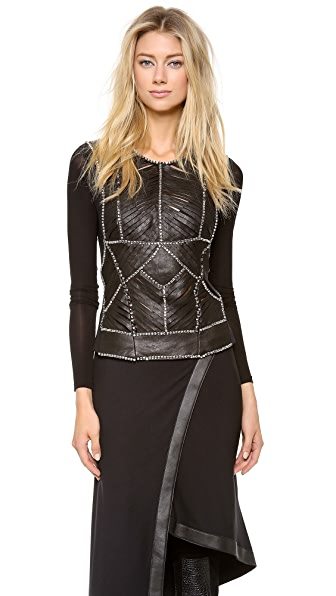 Donna Karan New York Rhinestone Embellished Top