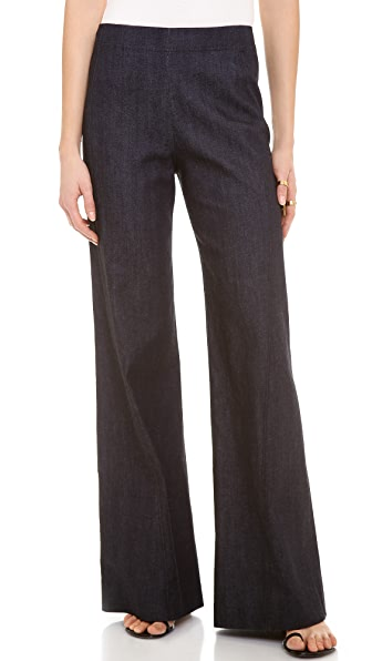 Donna Karan New York High Waist Wide Leg Pants