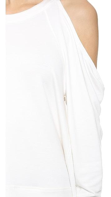Donna Karan New York Cold Shoulder Pullover