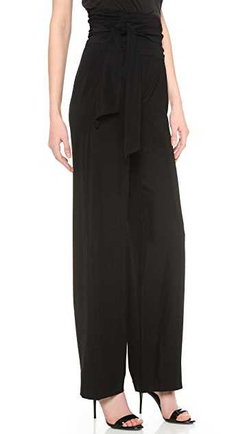 Donna Karan New York Fluid Pants with Sash