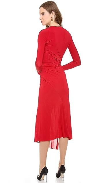 Donna Karan New York Plunge V Twist Dress