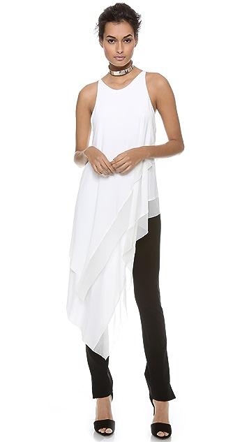 Donna Karan New York Sleeveless Asymmetric Top