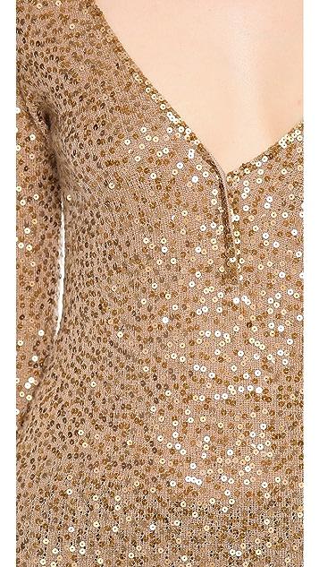Donna Karan New York Elbow Sleeve Henley