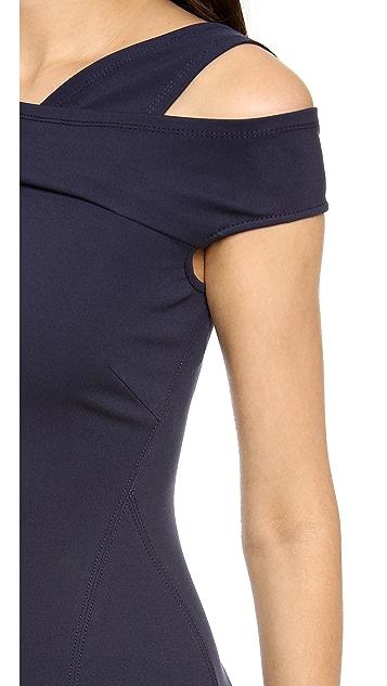 Donna Karan New York Cap Sleeve Cold Shoulder Dress