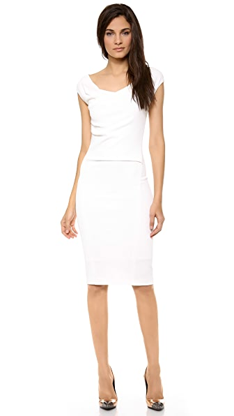Donna Karan New York Drape Front Dress