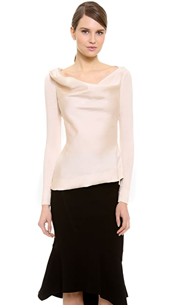Donna Karan New York Long Sleeve Asymmetrical Top