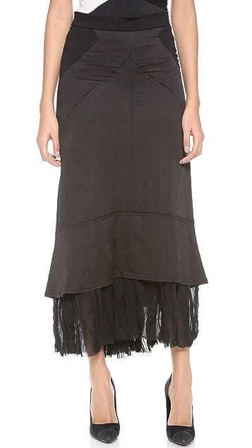 Donna Karan New York Maxi Skirt with Georgette Hem