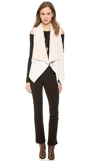 Donna Karan New York Ribbed Shearling Vest
