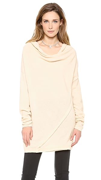 Donna Karan New York Asymmetric Drape Tunic
