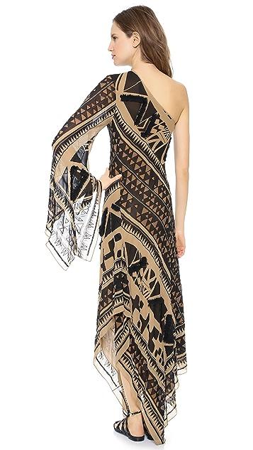 Donna Karan New York Embroidered Evening Caftan