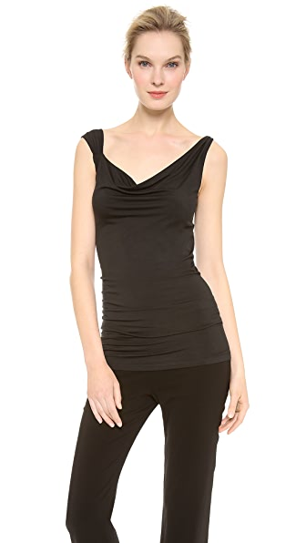 Donna Karan New York Draped Twisted Strap Tank