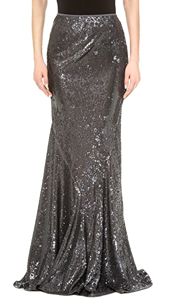 Donna Karan New York Sequined Bias Cut Skirt