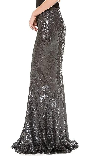 Donna Karan New York Sequined Bias Cut Skirt