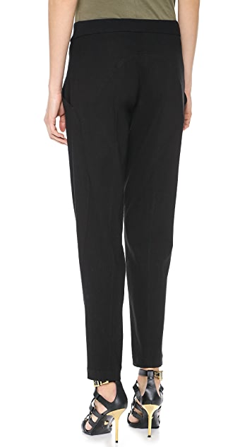Donna Karan New York Cropped Trousers with Seaming Details