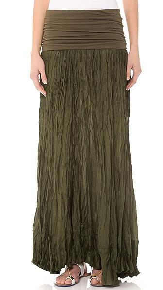 Donna Karan New York Fold Over Maxi Skirt