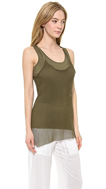 Donna Karan New York Layered Mesh Tank